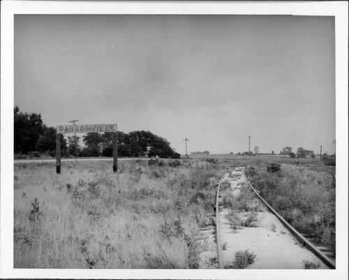 Atchison, Topeka & Santa Fe Railway Company's sign board, Ransomville, Kansas - Page