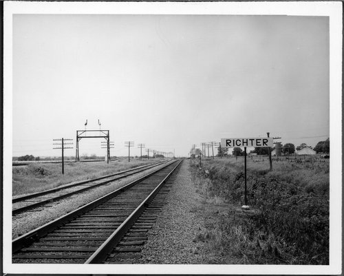 Missouri Pacific Railroad Company's sign board, Richter, Kansas. - Page