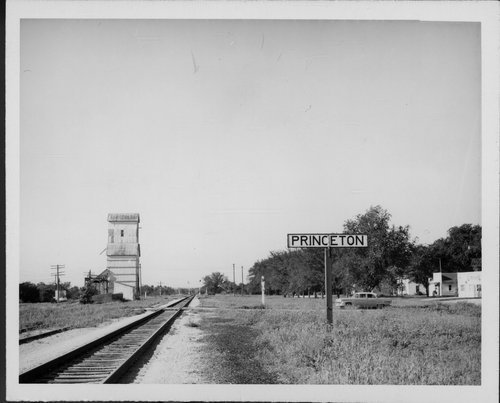 Atchison, Topeka and Santa Fe Railway Company sign board, Princeton, Kansas - Page