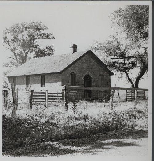 Stone schoolhouse in Silkville, Kansas - Page