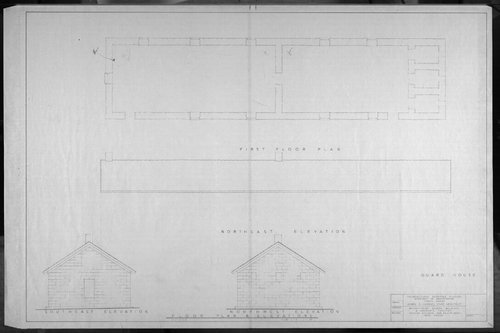 Architectural plans for Frontier Historical Park and Old Fort Hays - Page