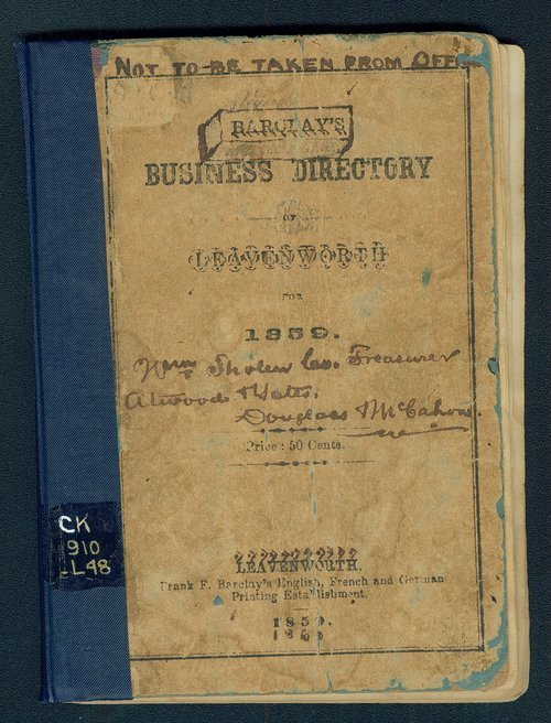 Barclay's Business Directory of Leavenworth for 1859 - Page