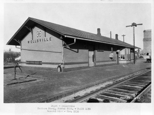 Atchison, Topeka & Santa Fe Railway Company depot, Wellsville, Kansas - Page