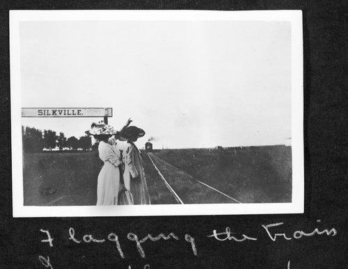 Flagging a train at Silkville, Kansas - Page