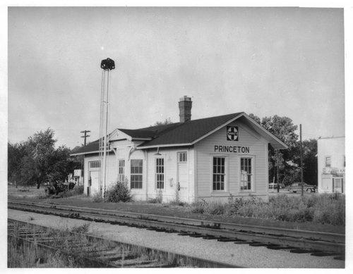 Atchison, Topeka and Santa Fe Railway Company depot, Princeton  Kansas - Page