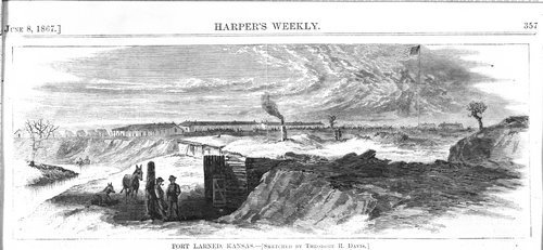 Sketch of Fort Larned, Kansas - Page