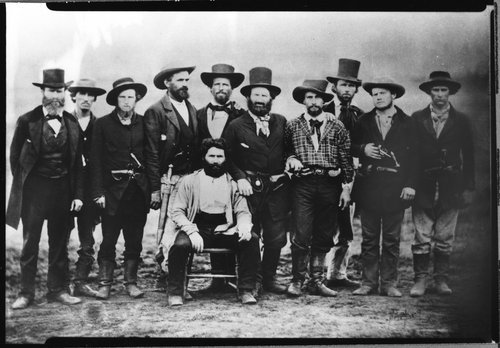 Photo of John Doy and his rescue party, 1859