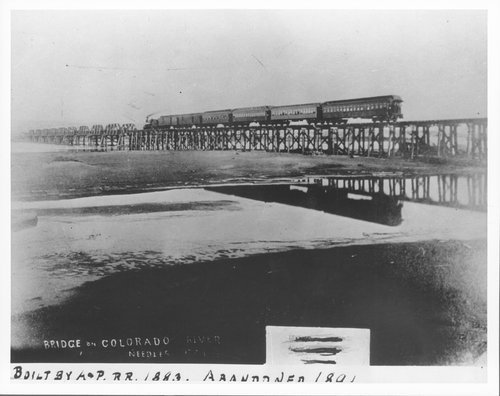 Atlantic & Pacific  Railway Company's bridge, Needles, California - Page