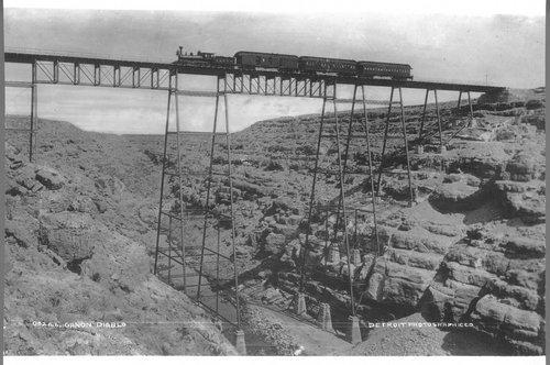 Atchison, Topeka & Santa Fe Railway Company's Canyon Diablo bridge - Page