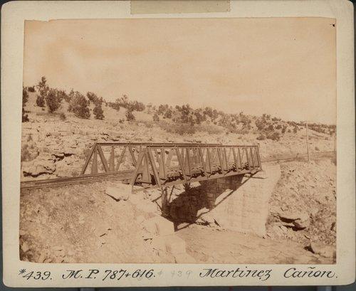 Atchison, Topeka & Santa Fe Railway Company bridge, Martinez Canon - Page