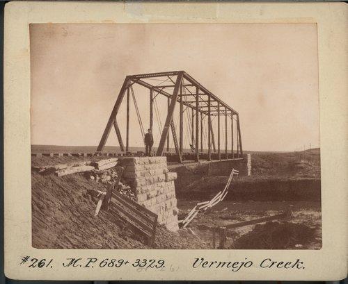 Atchison, Topeka & Santa Fe Railwa Company bridge, Vermejo Creek - Page