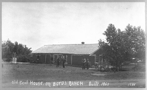 Sod house on Boyd's ranch in Kansas - Page