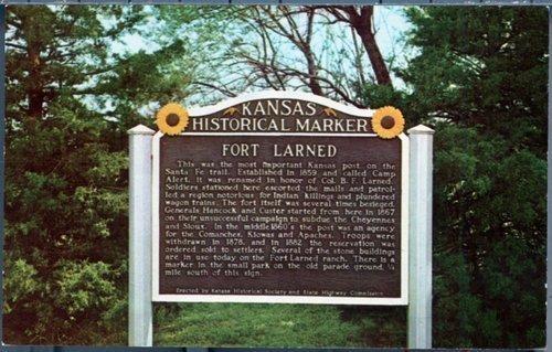 Fort Larned historical marker - Page