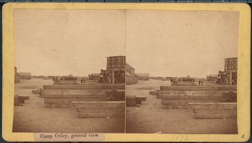 Camp Criley railroad material yard  in Pawnee County, Kansas - Page