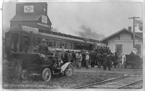 Booster's special at the Union Pacific depot, Winchester, Kansas - Page