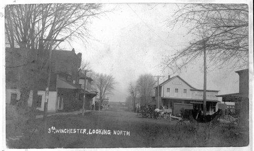 Street scene in Winchester, Kansas - Page