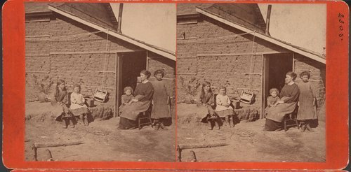 Sod house in stereographic photo, Pawnee County, Kansas - Page
