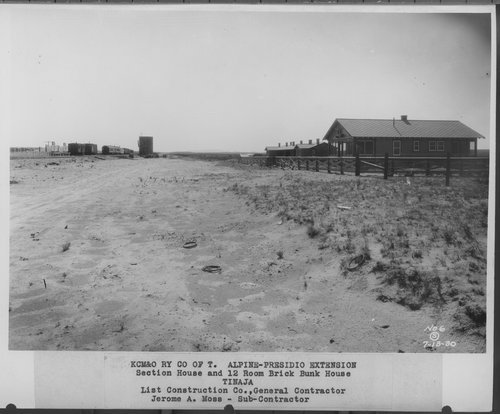 Kansas City, Mexico, & Orient Railway's section house and bunk house, Tinaja, Texas - Page