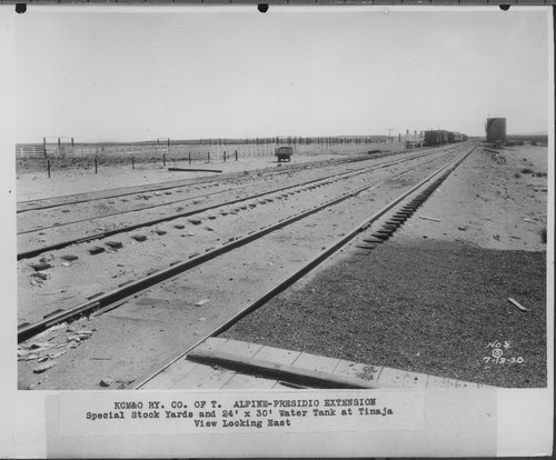 Kansas City, Mexico, & Orient Railway's special stock yards, Tinaja, Texas - Page
