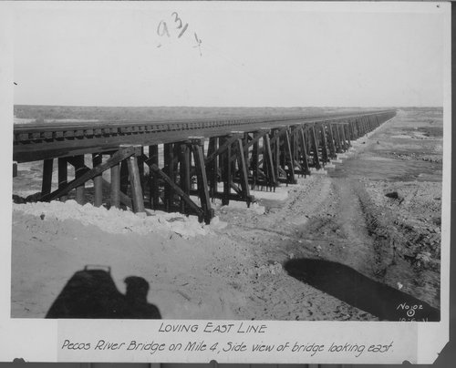 Atchison, Topeka & Santa Fe Railway Company bridge, Loving East Line, New Mexico - Page