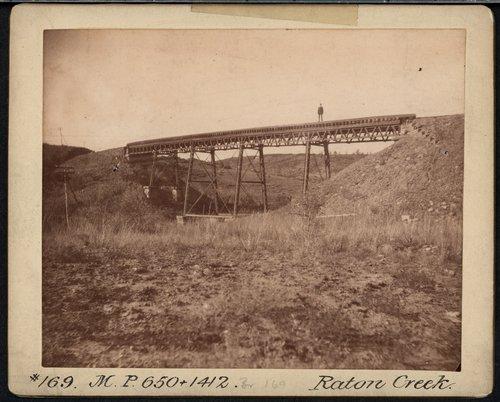 Atchison, Topeka & Santa Fe Railway Company bridge, Raton Creek - Page