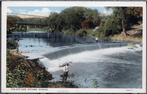 The Ott Dam, Ottawa, Kansas - Page