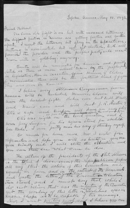 W. W. Cone to Joseph Hebbard - Page