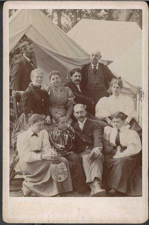 People attending a Chautauqua in Ottawa, Kansas - Page