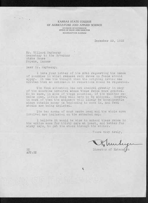 Governor Alfred M. Landon drought correspondence - Page