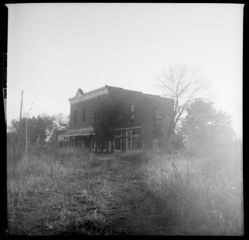Deserted building, Le Loup, Kansas - Page