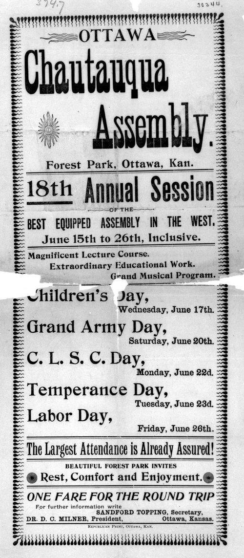 Ottawa Chautauqua Assembly, Ottawa, Kansas - Page