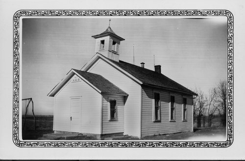 A photograph of the Kaub School built in 1868, the oldest building in Franklin County used for educational purposes.