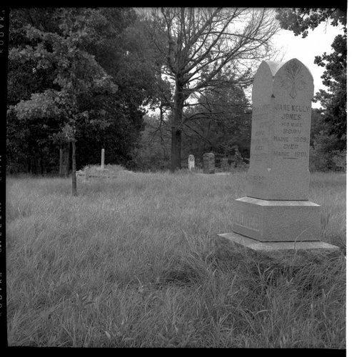 Gravestones of John Tecumseh (Tauy) Jones and Jane Kelly Jones - Page