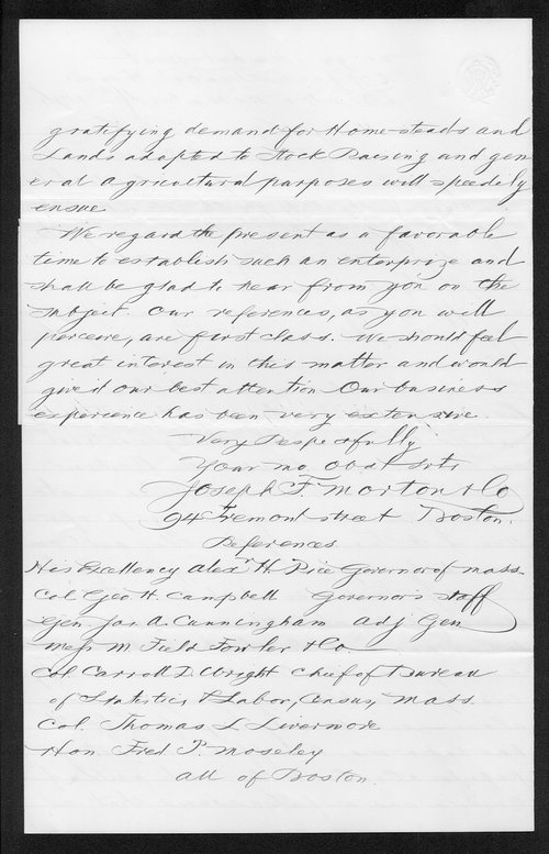 Governor Thomas Osborn immigration received correspondence - Page
