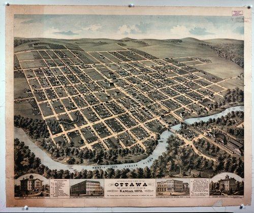 Bird's-eye view of Ottawa, Kansas - Page