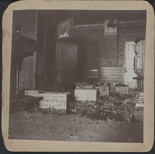 A saloon wrecked by Carry Nation, Enterprise, Kansas - Page