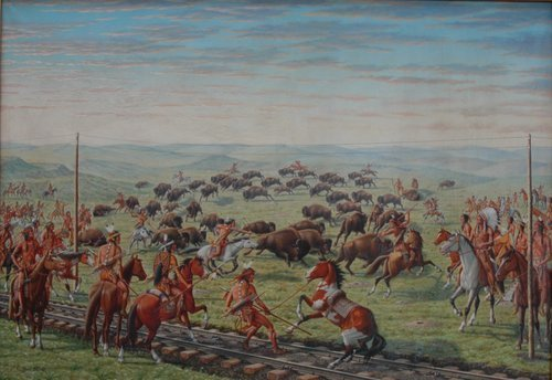 Indians Surround Buffalo near Russell - Page