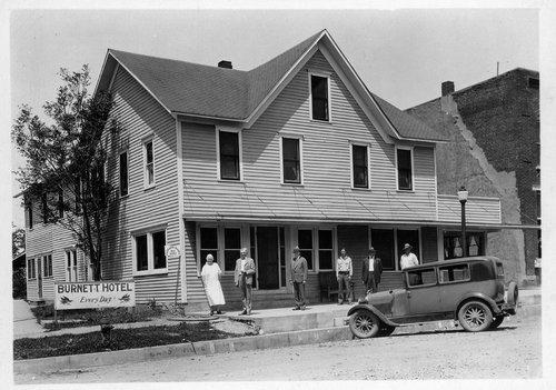Burnett Hotel in Colony, Kansas - Page
