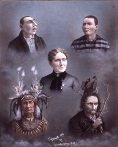 Image of a pastel titled American Woman and her Political Peers, 1892 or 1893.