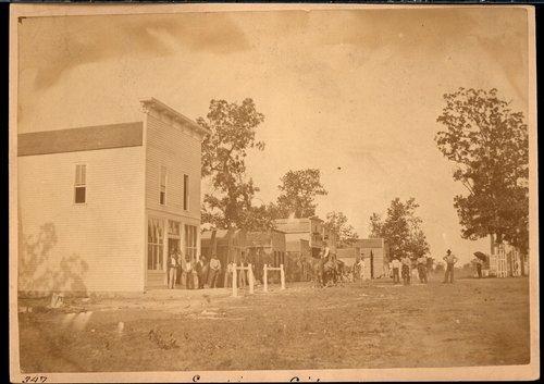 Street scene, Empire City, Kansas - Page