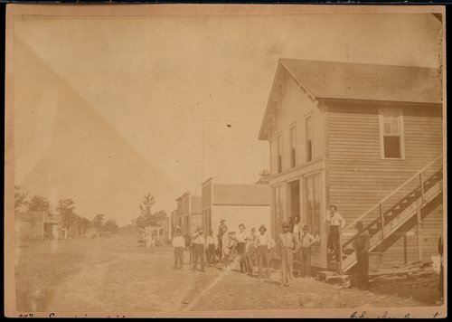Street scene, Empire City, Kansas - Page