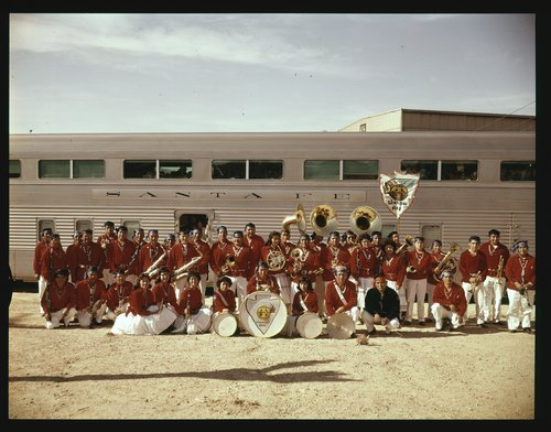 Atchison, Topeka and Santa Fe Railway Company band, Winslow, Arizona - Page
