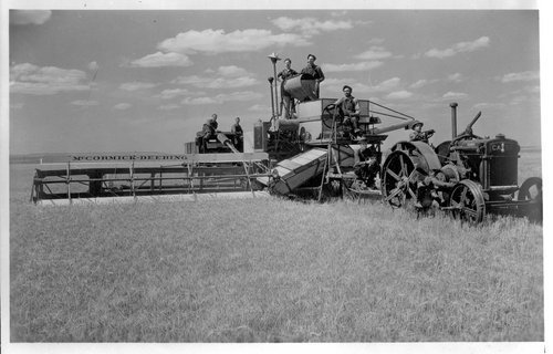Harvesting wheat, Greeley County, Kansas - Page