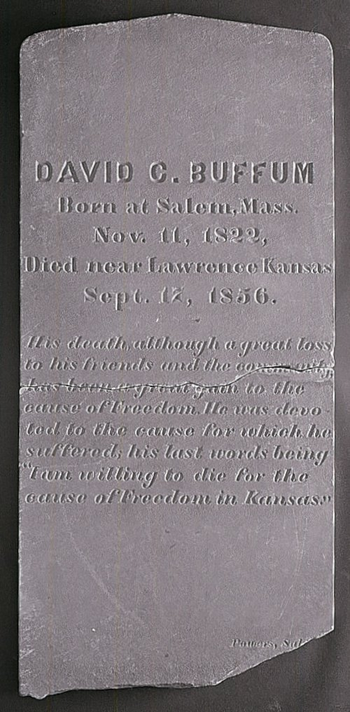 David C. Buffum's tombstone - Page