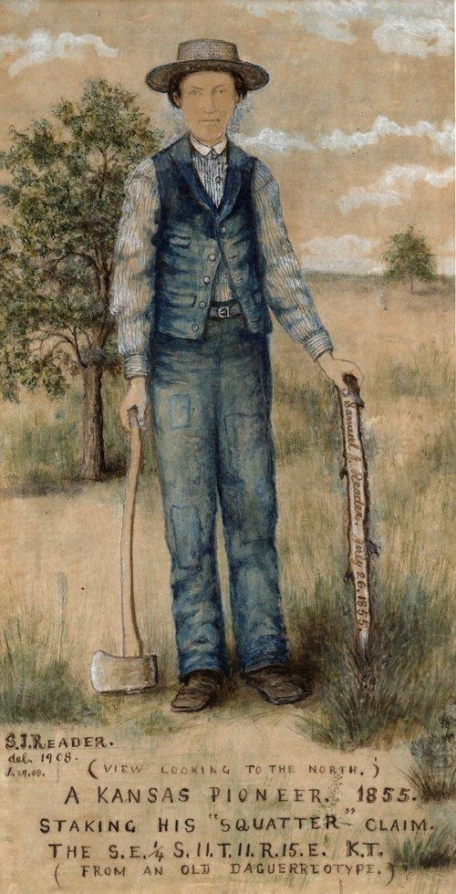 Samuel Reader self-portrait - Page