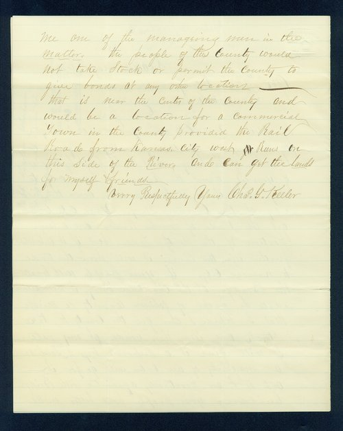 Charles Keeler to Governor Thomas Carney - Page