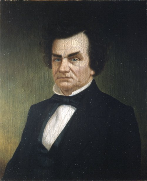 Portrait of Stephen Douglas by Louis Lussier, 1860