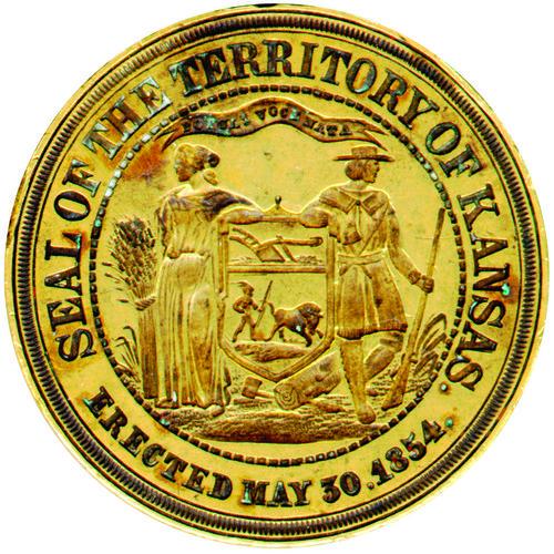 Kansas territorial seal embossing stamp - Page
