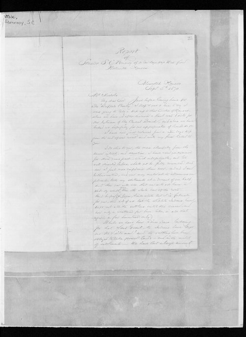 Report of Senator S.C. Pomeroy of a ten day trip West from Waterville, Kansas - Page