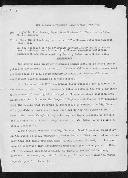 Edith Monfort to Dwight Eisenhower - Page